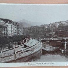 Postales: POSTAL BILBAO AÑOS 20 . VIZCAYA PAIS VASCO PUENTE DE LA MERCED, CASCO VIEJO. EDITOR HAE. Lote 97832935
