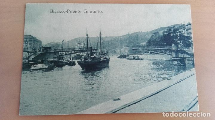 POSTAL BILBAO AÑOS 20 VIZCAYA, PAIS VASCO. PUENTE GIRATORIO, RIA, BARCOS. EDICION L.G. BILBAO (Postales - España - Pais Vasco Antigua (hasta 1939))