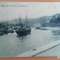 Postales: POSTAL BILBAO AÑOS 20 VIZCAYA, PAIS VASCO. PUENTE GIRATORIO, RIA, BARCOS. EDICION L.G. BILBAO. Lote 97843895