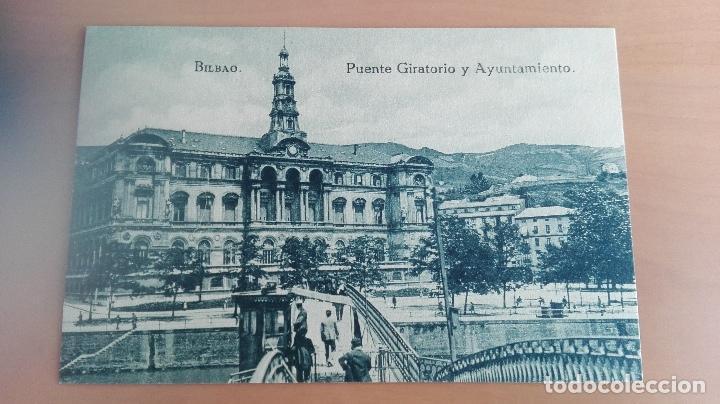 POSTAL BILBAO AÑOS 20 VIZCAYA, PAIS VASCO. PUENTE GIRATORIO Y AYUNTAMIENTO. EDICION L.G. BILBAO (Postales - España - Pais Vasco Antigua (hasta 1939))
