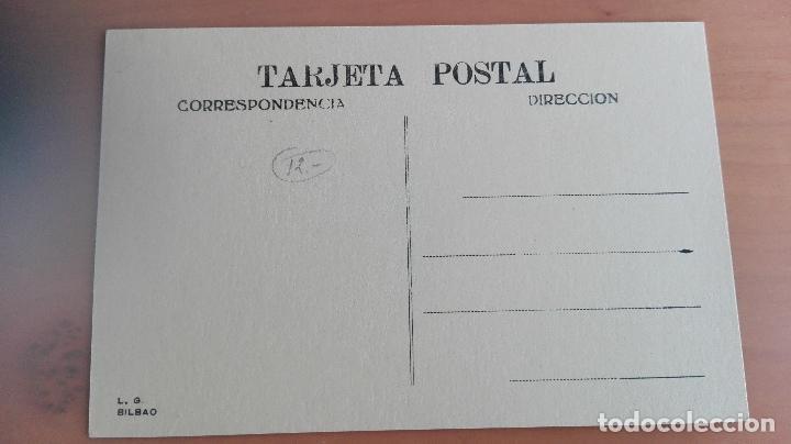 Postales: POSTAL BILBAO AÑOS 20 VIZCAYA, PAIS VASCO. PUENTE GIRATORIO Y AYUNTAMIENTO. EDICION L.G. BILBAO - Foto 2 - 97844331