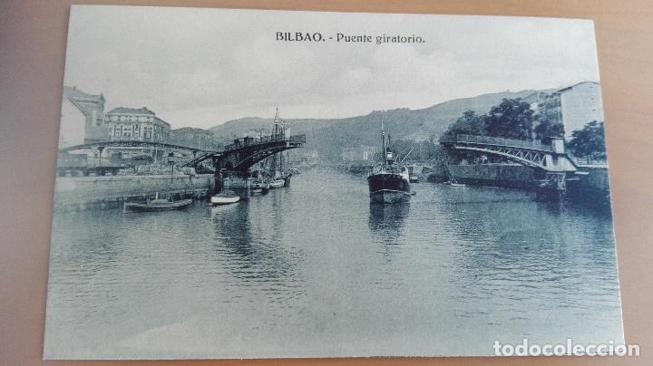 POSTAL BILBAO VIZCAYA PAIS VASCO. PUENTE GIRATORIO. EDITOR HAE (Postales - España - Pais Vasco Antigua (hasta 1939))