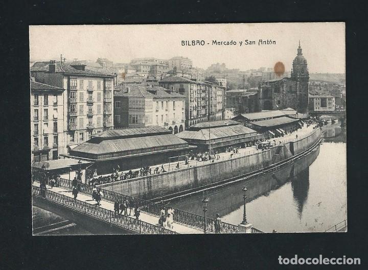 BILBAO. MERCADO Y SAN ANTÓN. (Postales - España - País Vasco Moderna (desde 1940))