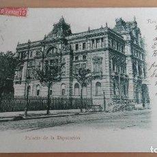 Postales: POSTAL RECUERDO DE BILBAO PALACIO DE LA DIPUTACION VIZCAYA PAIS VASCO. GRAN VIA CIRCULADA PRIM EPOCA. Lote 98355619