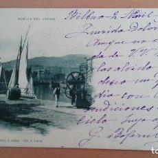 Postales: POSTAL BILBAO Nº 218 MUELLE DEL ARENAL VIZCAYA PAIS VASCO. EDIC: LANDABURU HERMANAS BARCOS. Lote 98360023