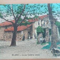 Postales: POSTAL VIZCAYA LUJUA CASERIO VASCO PAIS VASCO. EDIC. ARTES GRAFICAS BILBAO TIPOS VASCOS . Lote 98764419