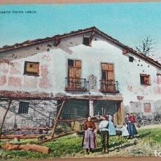 Postales: POSTAL VIZCAYA ZAMUDIO CASERIO TIPICO VASCO PAIS VASCO. EDIC. L. G. BILBAO TIPOS VASCOS COSTUMBRISMO. Lote 98769751