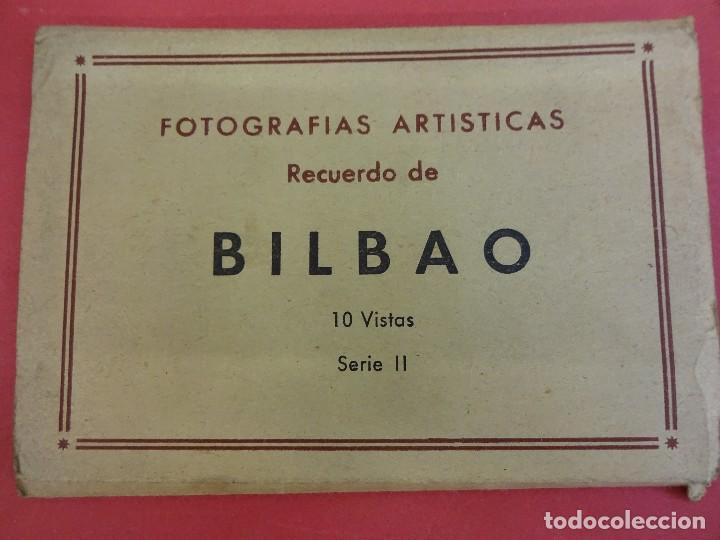 ALBUM ACORDEON 10 POSTALES BILBAO. ORIGINALES AÑOS 1950S. PAPELERIA MIÑAMBRES (Postales - España - País Vasco Moderna (desde 1940))