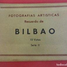 Postales: ALBUM ACORDEON 10 POSTALES BILBAO. ORIGINALES AÑOS 1950S. PAPELERIA MIÑAMBRES. Lote 99208999