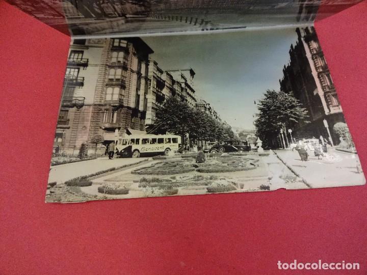 Postales: Album acordeon 10 postales BILBAO. Originales años 1950s. Papeleria Miñambres - Foto 2 - 99208999
