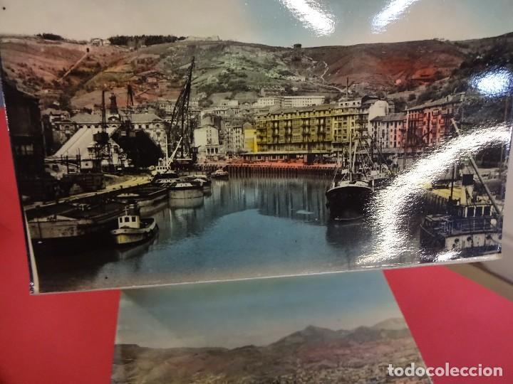 Postales: Album acordeon 10 postales BILBAO. Originales años 1950s. Papeleria Miñambres - Foto 3 - 99208999