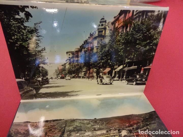 Postales: Album acordeon 10 postales BILBAO. Originales años 1950s. Papeleria Miñambres - Foto 4 - 99208999
