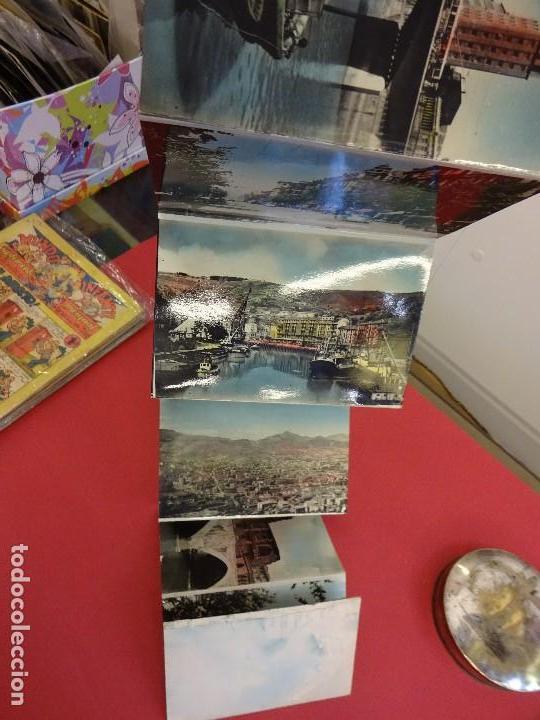 Postales: Album acordeon 10 postales BILBAO. Originales años 1950s. Papeleria Miñambres - Foto 5 - 99208999