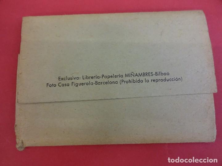 Postales: Album acordeon 10 postales BILBAO. Originales años 1950s. Papeleria Miñambres - Foto 7 - 99208999