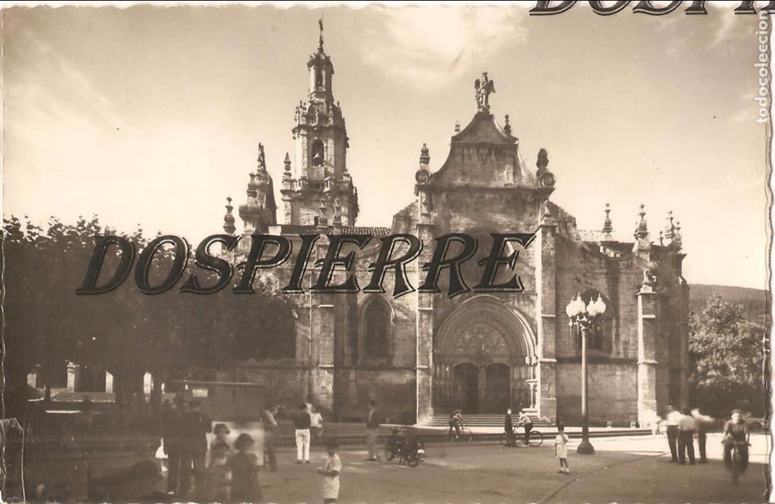 POSTAL, VALMASEDA, VIZCAYA, IGLESIA DE SAN SEVERINO, ESCRITA (Postales - España - País Vasco Moderna (desde 1940))