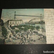 Postales: PORTUGALETE BILBAO HOTEL PORTUGALETE Y PUENTE VIZCAYA. Lote 99923843