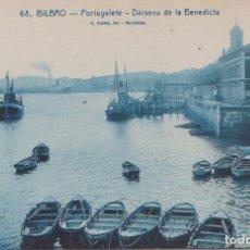 Postales: PORTUGALETE (VIZCAYA) - DARSENA DE LA BENEDICTA. Lote 100009351