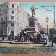 Postales: POSTAL BILBAO PLAZA DE LA ESTACION CIRCULAR DIEGO LOPEZ HARO BANCO VIZCAYA PAIS VASCO ED JULIUS BERL. Lote 100050575