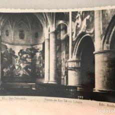 Postales: ANTIGUA POSTAL SAN SEBASTIÁN MUSEO SAN TELMO IGLESIA ED ARRIBAS . Lote 100124991