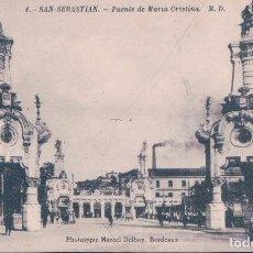 Postais: POSTAL SAN SEBASTIAN 4 - PUENTE DE MARIA CRISTINA - M.D. DELBOY. Lote 100133699