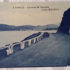 Postales: 5 ZARAUZ-CARRETERA DE GUETARIA-CASA MIRANDA. GUIPUZCOA - SIN CIRCULAR -. Lote 101123091