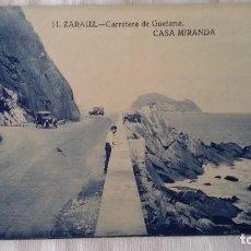 Postales: 11 ZARAUZ-CARRETERA DE GUETARIA-CASA MIRANDA. GUIPUZCOA - SIN CIRCULAR. Lote 101123519