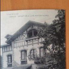 Postales: ZARAUZ GUIPÚZCOA-CHALET DE D.JOSÉ SANTOS SUÁREZ-CASA MIRANDA-FOTOTIPIA HAUSER Y MENET. SIN CIRCULAR. Lote 101182123