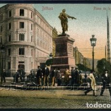 Postales: POSTAL BILBAO PLAZA DE LA ESTACION . CA AÑO 1900. Lote 101374527