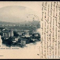 Postales: POSTAL BILBAO DEUSTO VISTO DESDE MIRAMAR . HAUSER Y MENET 834 . CA AÑO 1900. Lote 101376791