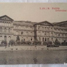 Postales: BILBAO UNIVERSIDAD DE DEUSTO S. 201 / 30. ED. MARQUÉS Y CIA. FOTOTIPIA CASTAÑEIRA Y ÁLVAREZ. MADRID-. Lote 101521651