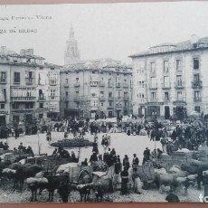 Postales: POSTAL VITORIA GASTEIZ PLAZA DE BILBAO ED PIO LUIS LARRAÑAGA PAIS VASCO FERIA MERCADO GANADO ALAVA. Lote 101614135