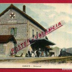 Postales: POSTAL ZARAUZ , ESTACION DEL FERROCARRIL , ORIGINAL , P87983. Lote 103221223