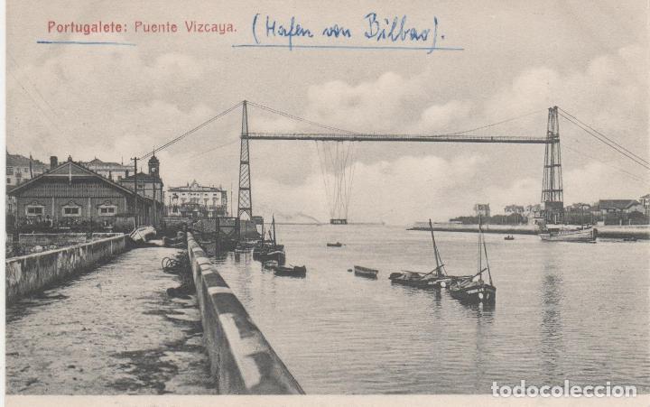 PORTUGALETE: PUENTE VIZCAYA (Postales - España - Pais Vasco Antigua (hasta 1939))