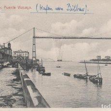 Postales: PORTUGALETE: PUENTE VIZCAYA. Lote 103404779