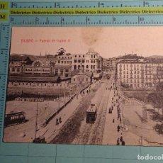 Postales: POSTAL DE VIZCAYA. AÑOS 10 30. BILBAO, PUENTE DE ISABEL II. CASTAÑEIRA. 1710. Lote 103885463