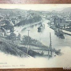 Postales: BILBAO. LOS MUELLES. (LANDÁBURU HERMANAS, 1024) CIRCULADA EN 1907. . Lote 104151859