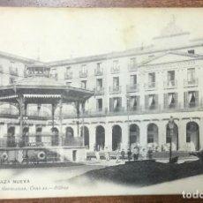 Postales: BILBAO. PLAZA NUEVA. (LANDÁBURU HERMANAS, 1057) CIRCULADA EN 1908. . Lote 104152247