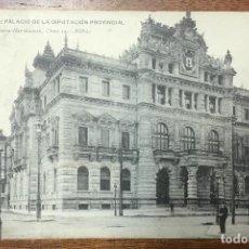 Postales: BILBAO. PALACIO DE LA DIPUTACION PROVINCIAL. (LANDÁBURU HERMANAS, 1023) CIRCULADA EN 1908.. Lote 104153287