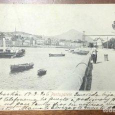 Postales: PORTUGALETE. (ROMMLER & JONAS) CIRCULADA EN 1906. REVERSO SIN DIVIDIR. . Lote 104155643