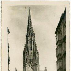 Postales: SAN SEBASTIÁN. CATEDRAL BUEN PASTOR. L. ROISIN - FOTO. CIRCULADA. Lote 104181315