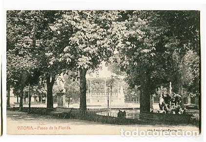 VITORIA PASEO DE LA FLORIDA ED. IMP. LARRAÑAGA. FOTOTIPIA THOMAS. SIN CIRCULAR (Postales - España - Pais Vasco Antigua (hasta 1939))