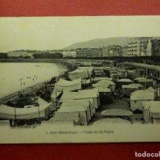 Postales: POSTAL - ESPAÑA - SAN SEBASTIAN - VISTA DE LA PLAYA - MAVOR HERMANOS - ESCRITA. Lote 104415019