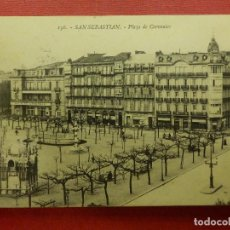Postales: POSTAL - ESPAÑA - SAN SEBASTIAN - 156.- PLAZA DE CERVANTES - G. GALARZA - ESCRITA EN 1913. Lote 104415051