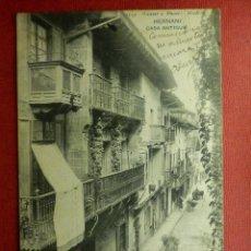 Postales: POSTAL - ESPAÑA - SAN SEBASTIAN - 1534.- HERNANI - CASA ANTIGUA - HAUSER Y MENET - ESCRITA. Lote 104415087