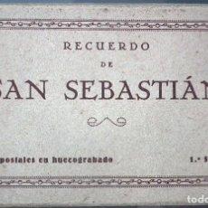 Postales: RECUERDO DE SAN SEBASTIÁN: 15 POSTALES EN HUECOGRABADO. 1ª SERIE, FOTO - GALARZA. Lote 104528823