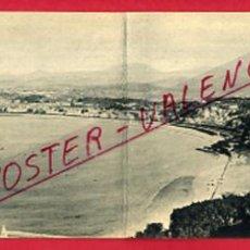 Postales: POSTAL SAN SEBASTIAN, GUIPUZCOA, VISTA GENERAL DESDE EL MONTE IGUELDO, DIPTICO, POSTAL DOBLE, P86997. Lote 104892503