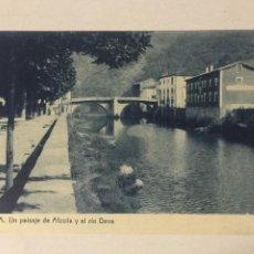 Postales: ANTIGUA POSTAL ALZOLA. UN PAISAJE DE ALZOLA Y EL RIO DEVA. FOTOTIPIA THOMAS.. Lote 105571643