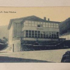 Postales: ANTIGUA POSTAL ALZOLA. HOTEL ALBIZKUA. FOTOTIPIA THOMAS. SIN CIRCULAR.. Lote 105572099