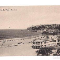 Postales: ALGORTA (VIZCAYA): PLAYA Y BALNEARIO (ED.LG). Lote 105670571