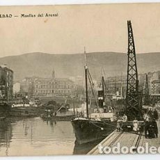 Postales: BILBAO MUELLES DEL ARENAL. ED. ALMACENES AMANN. Lote 105676395